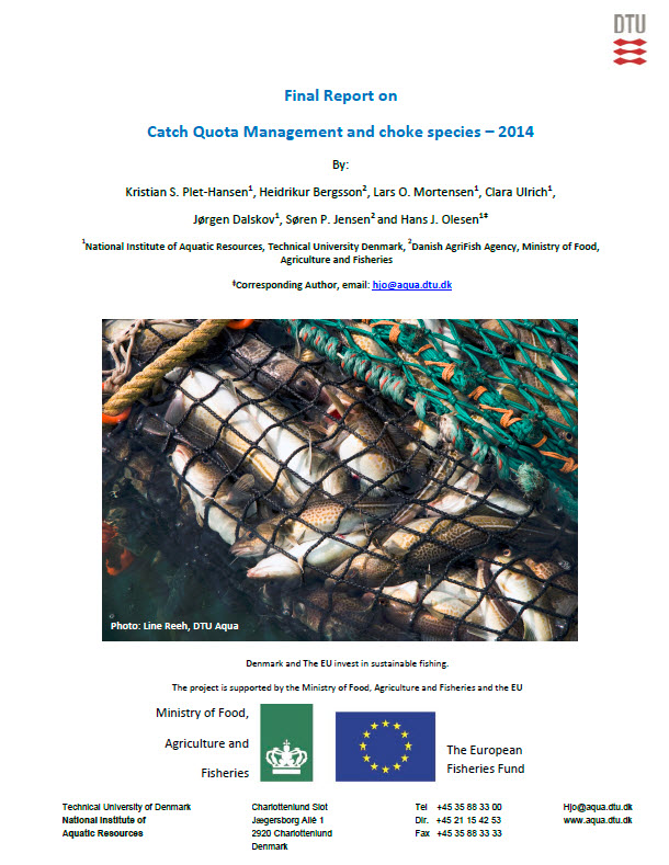 Final report on Catch Quota Management and Choke Species - 2014